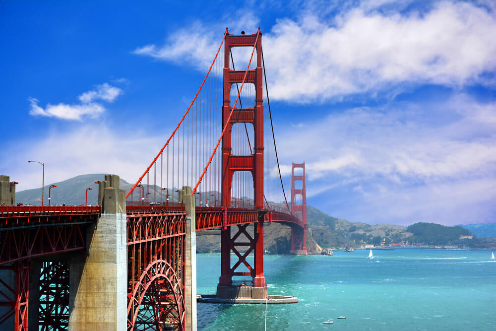 The well-known bridge Golden Gate