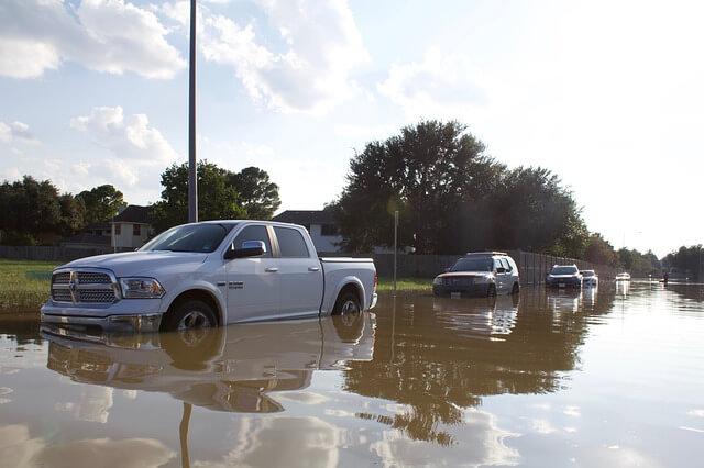 car during hurricane