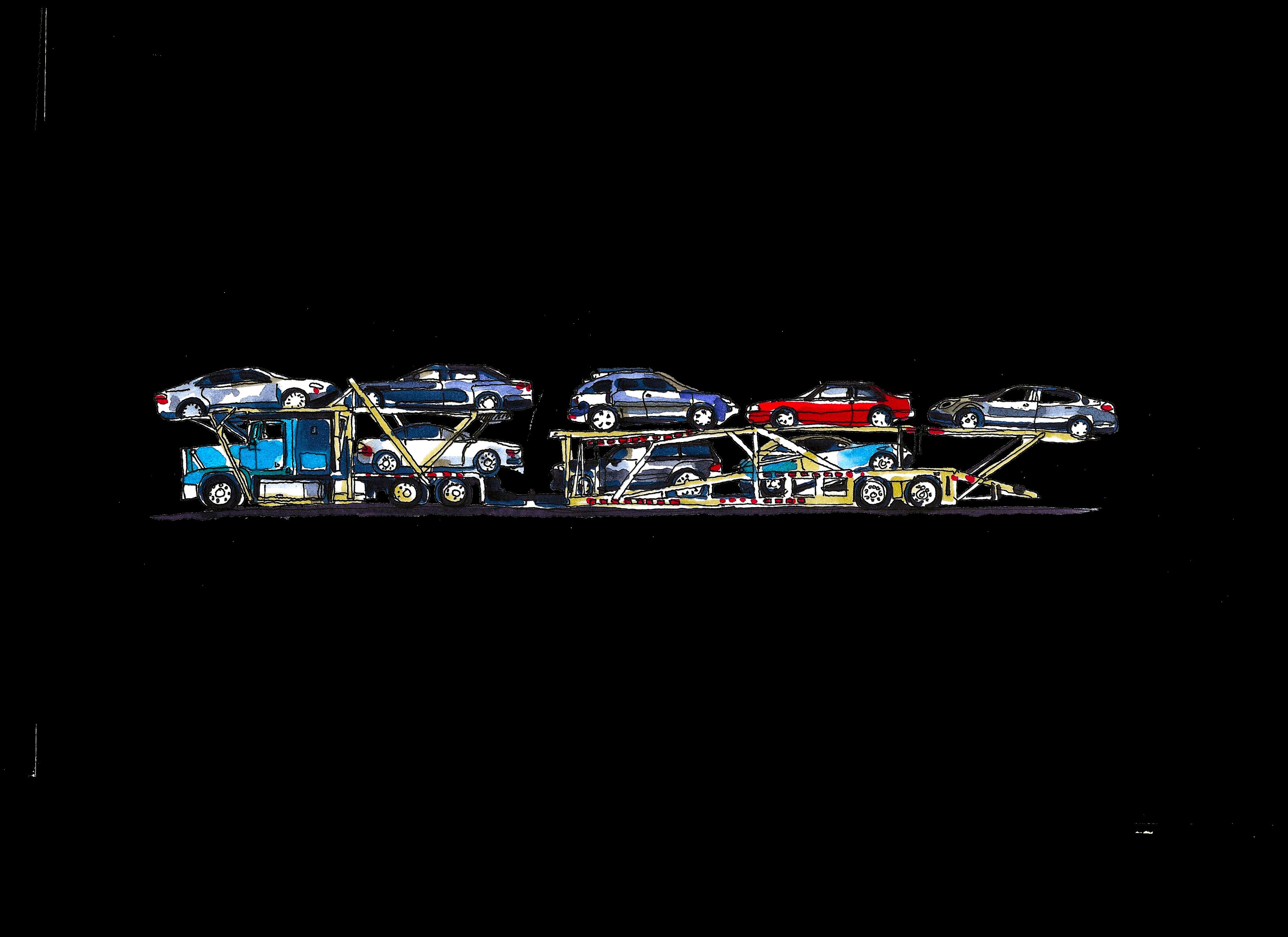 8 car carrier paint