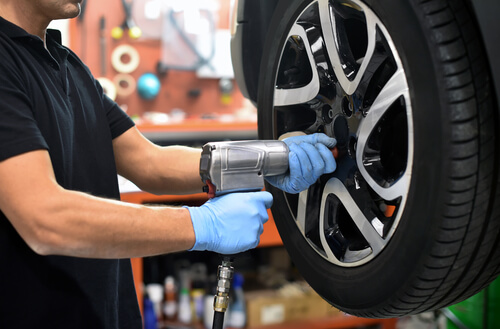 inflate tires to prevent flat spots