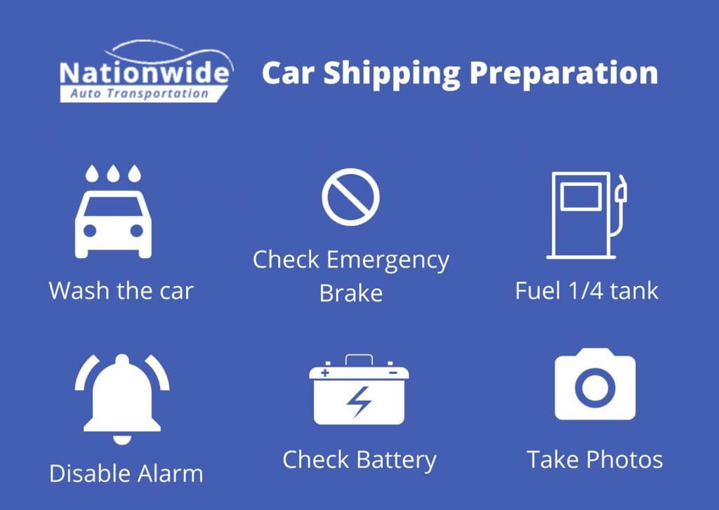 expedited car shipping preparation