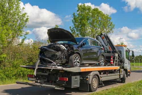 tow a salvaged car